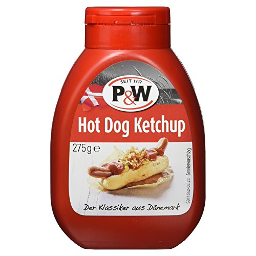 P&W Hot Dog Ketchup aus Dänemark, 275 g