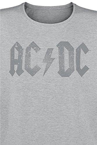 AC/DC Used Logo T-Shirt grau Grau