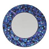 Sarana Runde Spiegel Mosaik violett