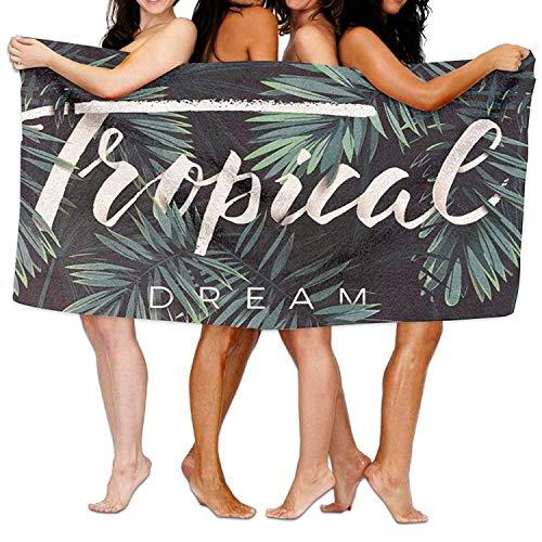 """RGFJJE Strandtücher Handtücher Tropical Dream Beach Towels Ultra Absorbent Microfiber Bath Towel Picnic Mat for Men Women Kids 31""""x51"""""""