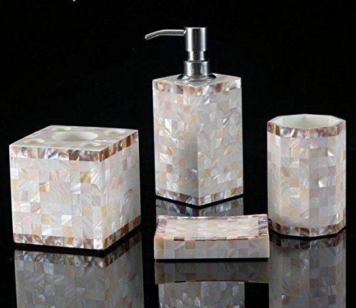juego-continentale-de-blanco-seashell-bano-si-botellas-de-locion-de-jabon-liquido-botella-bano-set-d