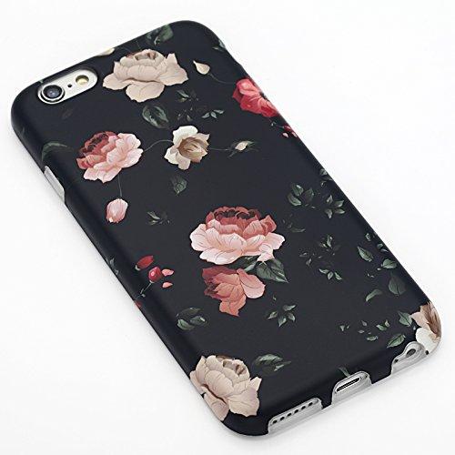 Panelize iPhone 6 Palme Hülle Schutzhülle Handyhülle Hard Case Cover Kratzfest Rutschfest Durchsichtig Klar (Palme 2) Rosen Nude