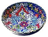Turkish Ceramics Hand Painted Ceramic Bowl-6 Inch Navy