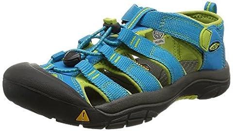 Keen Unisex-Kinder Newport H2 Sandalen Trekking-& Wanderschuhe, Türkis (Hawaiian Blue/Green Glow), 35