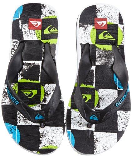 Quiksilver LITTLE CARVER ECHO DOTS KRBSL113, Jungen Zehentrenner, Mehrfarbig (WHITE BLACK BLU), EU 31 Echo-snowboard