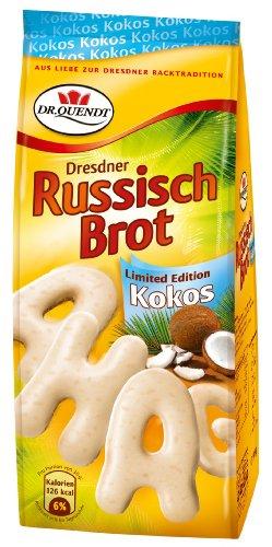 Dr. Quendt Russisch Brot Kokos, 5er Pack (5 x 90 g)