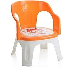 Kidzvilla® Pop N up Plastic Strong Durable Chair for Kids (Orange)