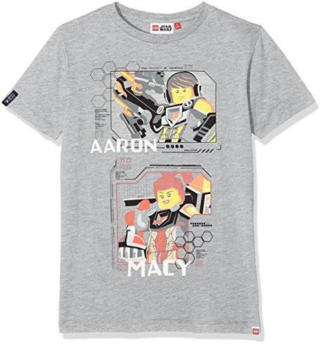 Lego Wear Jungen Lego Boy Nexo Knights TEO 605-T-Shirt T-Shirt, Grau (Grey Melange 924), 134