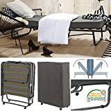 Gästebett klappbar Hersteller Veraflex 80x200 cm stabiler Metall-Rahmen Vierkant - Klapp-Bett inkl. Matratze , Lattenrost und Schutzhülle