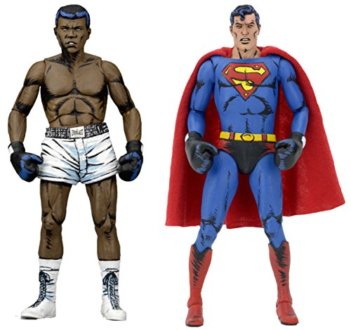 NECA DC Comics Superman Vs Muhammad Ali Special Edition Action Figure (2 Pack), 17,8 cm bunten