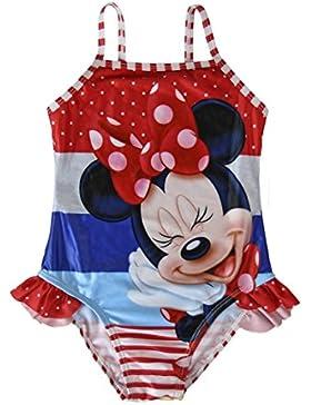 Minnie Mouse, Bañador para niñas, color rojo /azul