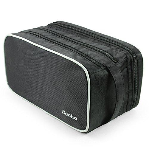 Becko Kulturtasche / Kulturbeutel / Mutifuktional und Tragbare Dusch-Tasche für Reisen und Pflegen, aus Oxford-Gewerbe besteh (Schwarz)