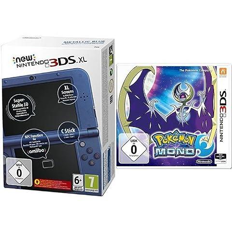 New Nintendo 3DS XL metallic blau(TN Variant) & Pokémon Mond - [3DS]