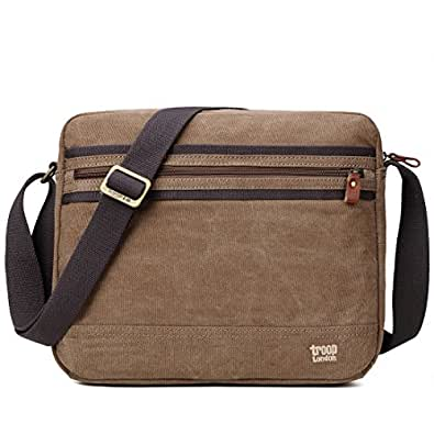 TRP0391 Troop London Classic Canvas Messenger Bag | Tablet Friendly