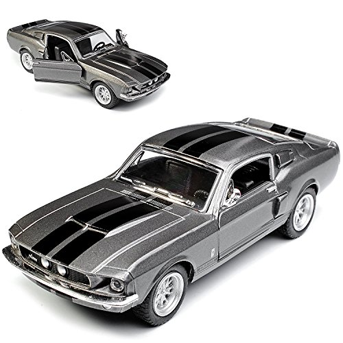 cb6d810da224 Scale 1/38 1967 Ford Shelby Mustang GT-500 diecast car Grey by Kinsmart