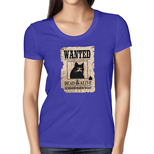 NERDO - Wanted Cat - Damen T-Shirt Marine