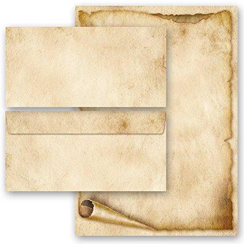 Motiv-Briefumschläge ALTES PAPIER 10 Stück C6 ohne Fenster