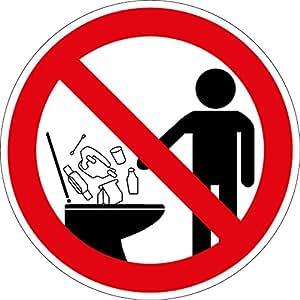 verbotszeichen keine hygieneartikel in die toilette werfen kunststoff 10 cm. Black Bedroom Furniture Sets. Home Design Ideas
