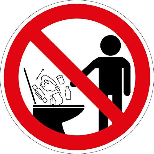 Verbotszeichen Keine Hygieneartikel in die Toilette