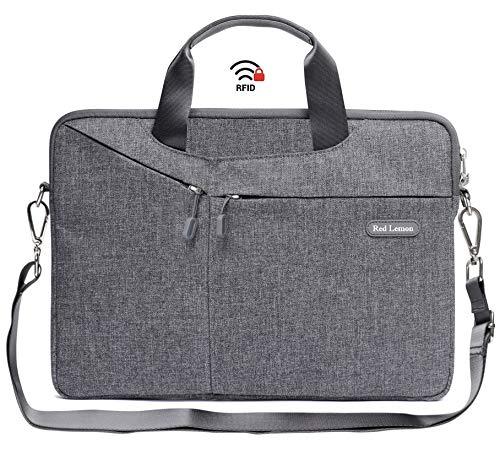 """Red Lemon Hybrid Business RFID 15.6"""" Shock & Waterproof Laptop Bag - (Grey - RF ID, 15.6"""")"""