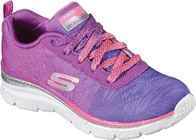 Skechers Girls' Fun Fit Sneaker,Purple/Pink,US 10.5 M