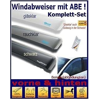 Climair Windabweiser Set vorne & hinten (mit ABE) 04-2617D.KS, Farbausführung: schwarz