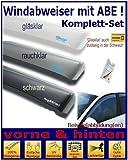 Tuning-Pro Climair Windabweiser Set vorne & hinten (mit ABE) 04-4312.KS, Farbausführung: rauchklar