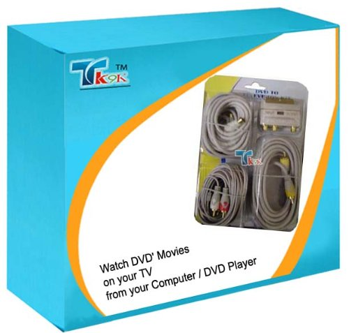 5m PC zu TV-Out Kabel Kit Gold S-Video SVHS Audio 5m UK Kit S-video