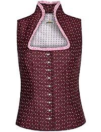 Almsach Damen Trachten-Mode Trachtenmieder Rosi in Bordeaux traditionell