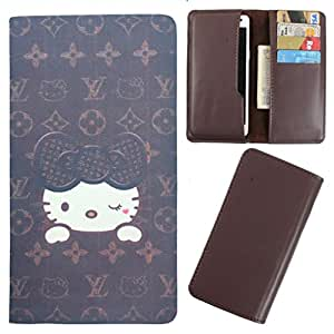 DooDa - For iBall Cobalt Solus 4G PU Leather Designer Fashionable Fancy Case Cover Pouch With Card & Cash Slots & Smooth Inner Velvet