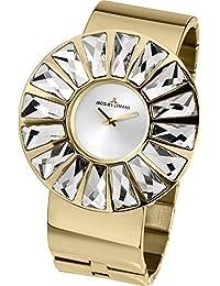 Jacques Lemans Damen-Armbanduhr XL Flora Analog Quarz Edelstahl beschichtet 1-1638M
