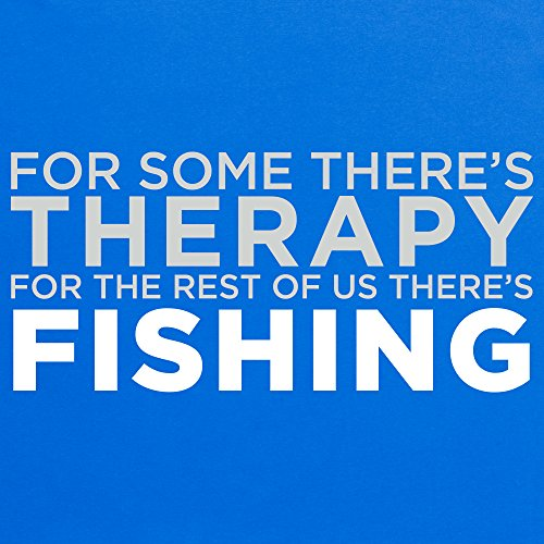 Fishing Therapy T-Shirt, Herren Royalblau