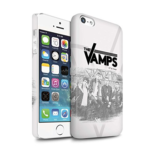 Officiel The Vamps Coque / Clipser Matte Etui pour Apple iPhone 5/5S / Brossé Design / The Vamps Séance Photo Collection Esquisser