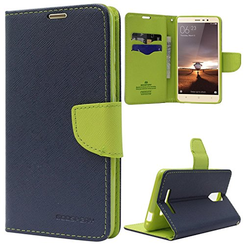 ONLINE INDIA Samsung Galaxy Grand Max Duos SM-G7202 / 7200 FLIP COVER imported mercury goospery fancy diary wallet flip case back cover for SAMSUNG GALAXY 7200 / 7202 -BLUE
