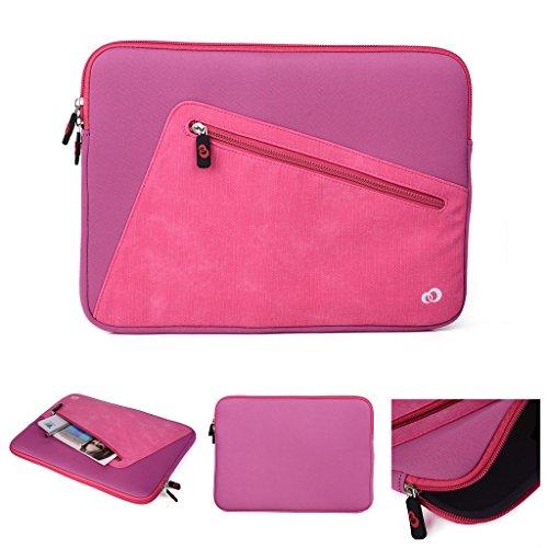 Kroo Tablet-Schutzhülle aus Neopren/Sleeve für Dell Latitude 12E5250. Vorne Reißverschluss Tasche für speicherbedarf rosa rose