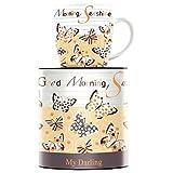RITZENHOFF My Darling Kaffeebecher von Sandra Brandhofer, aus Porzellan, 300 ml, mit trendigen Motiven