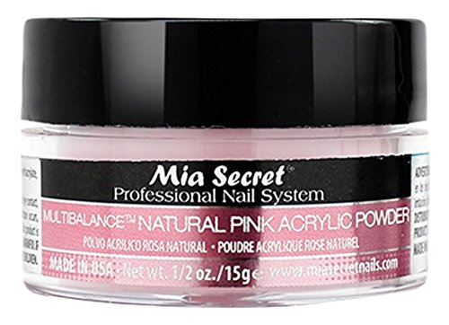 Mia secret, polvere acrilica per unghie, rosa naturale, 15ml