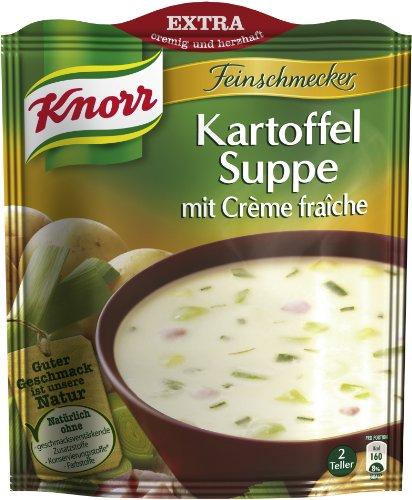 Knorr Feinschmecker Kartoffelsuppe mit Creme Fraiche, 15 x 2 Teller (15 x 500 ml)