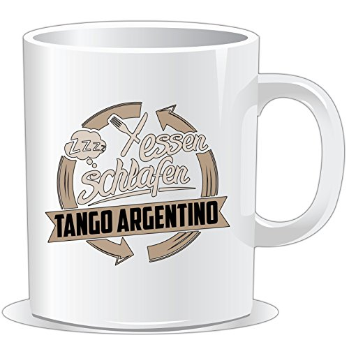 getshirts - RAHMENLOS® Geschenke - Tasse - Essen - Schlafen - Tango Argentino tanzen - uni uni -
