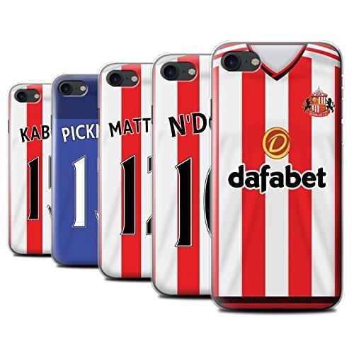 Offiziell Sunderland AFC Hülle / Case für Apple iPhone 7 / Rodwell Muster / SAFC Trikot Home 15/16 Kollektion Pack 24pcs