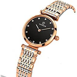 Ladies waterproof quartz watches/Simple steel band watch/ business casual female form-A