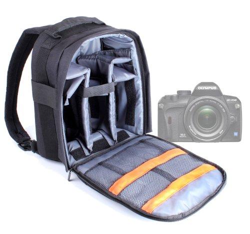 DURAGADGET Sac à Dos Appareil Photo numérique Compact réflex pour Olympus E420 / E-450 / E-620 / E3 / E510 / E520 / E-1 / E-30 - Noir et Gris