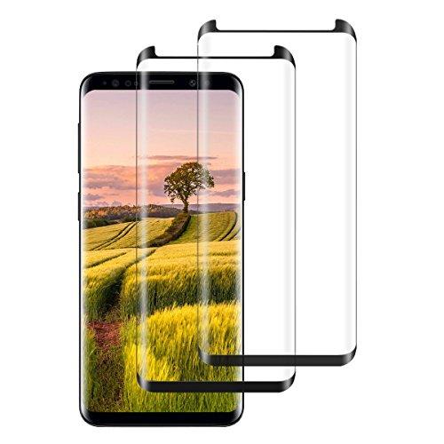kompatibel mit Galaxy S9/S9 Plus Panzerglas Schutzfolie,2 Stück Displayschutzfolien für galaxy S9/S9 Plus Gehärtetem Glass 9H Härte Anti-Kratzen 3D Gekrümmt HD -