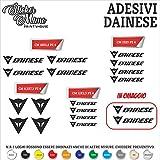 Sticker Mimo Dainese Decalcomania Adesivi Stickers Sponsor Tecnici Moto Casco Motorbike Kit 16 Pezzi - Adesivi in Vinile Scegli Il Colore Dimensioni e QUANTITA' nell'immagine