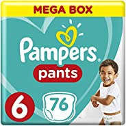 Pampers Pants Diapers, Size 6, Extra Large, 16 kg, 76 Count