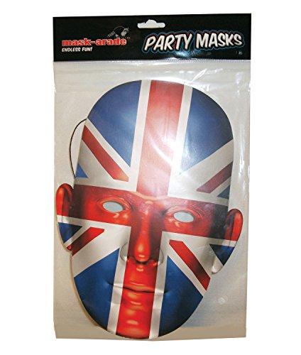 Mask Arade Kostüme (Britische Maske - Union Jack Face)