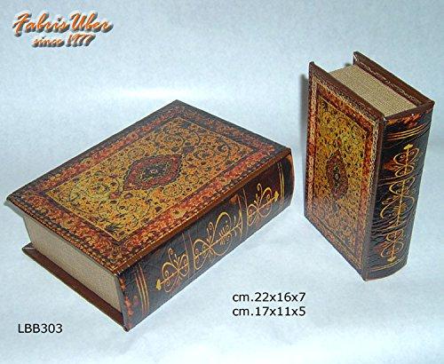 Coppia Finti Libri per Libreria nascondiglio segreto Vintage Fake Books a308