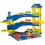 Dickie Toys 203748000 - Aparcamiento Estación parking Aparcamiento con 3 pisos, coches y modelo de tráfico