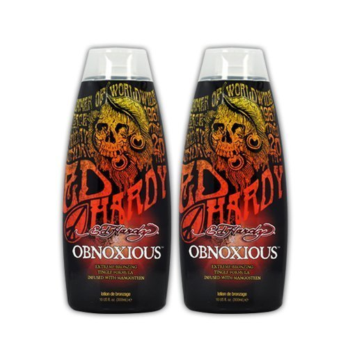 Lot 2 Ed Hardy Obnoxious Indoor Tanning Lotion Accelerator Bronzer Dark Tan Bed by Ed Hardy