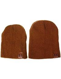 c7aae8b9f25f Webla Maman et Moi Couleur Unie Crochet Tricot Hiver Chaud Bonnet Chapeau  Beanie Chapeaux de Parent